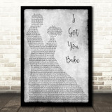 UB40 I Got You Babe Man Lady Dancing Grey Song Lyric Quote Print