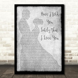Van Morrison Have I Told You Lately That I Love You Man Lady Dancing Grey Print