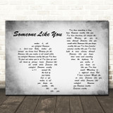 Van Morrison Someone Like You Man Lady Couple Grey Song Lyric Quote Print