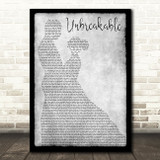 Westlife Unbreakable Man Lady Dancing Grey Song Lyric Quote Print