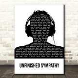 Massive Attack Unfinished Sympathy Black & White Man Headphones Song Lyric Quote Music Print