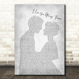 Betty Who I Love You Always Forever Man Lady Bride Groom Wedding Grey Song Lyric Quote Music Print