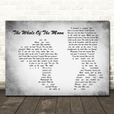 The Waterboys The Whole Of The Moon Man Lady Couple Grey Song Lyric Quote Music Print