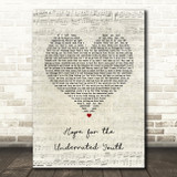 Yungblud Hope for the Underrated Youth Script Heart Song Lyric Quote Music Print