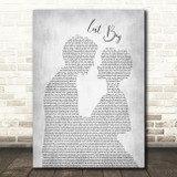 Ruth B Lost Boy Man Lady Bride Groom Wedding Grey Song Lyric Quote Music Print