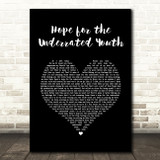 Yungblud Hope for the Underrated Youth Black Heart Song Lyric Quote Music Print