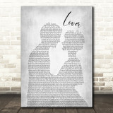 Taylor Swift Lover Man Lady Bride Groom Wedding Grey Song Lyric Quote Music Print