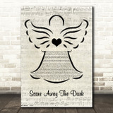 Passenger Scare Away The Dark Music Script Angel Song Lyric Quote Music Print