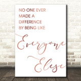 Rose Gold The Greatest Showman Made A Difference Song Lyric Quote Print