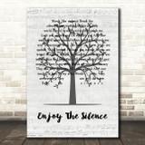 Depeche Mode Enjoy The Silence Music Script Tree Song Lyric Quote Music Print