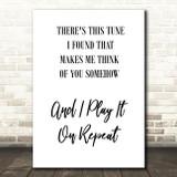 Do I Wanna Know Arctic Monkeys White Black Song Lyric Quote Print