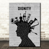 Deacon Blue Dignity Musical Instrument Mohawk Song Lyric Quote Music Print