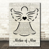 Neil Reid Mother of Mine Music Script Angel Song Lyric Quote Music Print