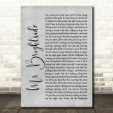 The Killers Mr Brightside Grey Rustic Script Song Lyric Quote Music Print