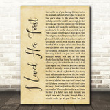 Heartland I Loved Her First Rustic Script Song Lyric Quote Music Print