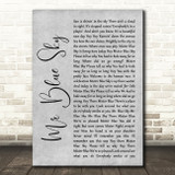 ELO Mr Blue Sky Grey Rustic Script Song Lyric Quote Music Print