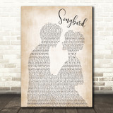 Eva Cassidy Songbird Song Lyric Man Lady Bride Groom Wedding Print