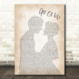 John Legend All Of Me Song Lyric Man Lady Bride Groom Wedding Print