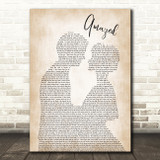 Lonestar Amazed Song Lyric Man Lady Bride Groom Wedding Print