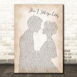 Rod Stewart Have I Told You Lately Song Lyric Man Lady Bride Groom Wedding Print