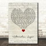 Harry Styles Watermelon Sugar Script Heart Song Lyric Quote Music Print