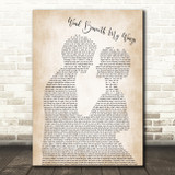 Bette Midler Wind Beneath My Wings Song Lyric Man Lady Bride Groom Wedding Print