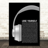 Eminem Lose Yourself Grey Headphones Song Lyric Quote Music Print