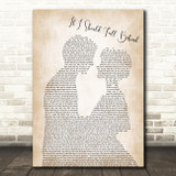 Bruce Springsteen If I Should Fall Behind Song Lyric Man Lady Bride Groom Print