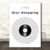 Lil Peep Star Shopping Vinyl Record Song Lyric Quote Music Print