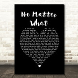 Boyzone No Matter What Black Heart Song Lyric Quote Music Print