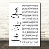 Nick Cave & The Bad Seeds Into My Arms White Script Song Lyric Quote Music Print