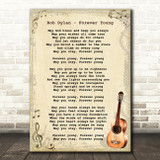 Bob Dylan Forever Young Song Lyric Vintage Quote Print