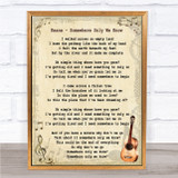 Keane Somewhere Only We Know Song Lyric Vintage Quote Print