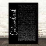 Dermot Kennedy Outnumbered Black Script Song Lyric Quote Music Print