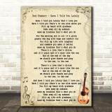 Rod Stewart Have I Told You Lately Song Lyric Vintage Quote Print