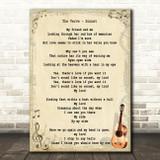 The Verve Sonnet Song Lyric Vintage Quote Print