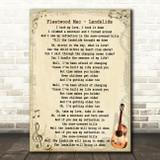 Fleetwood Mac Landslide Song Lyric Vintage Quote Print