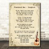 Fleetwood Mac Songbird Song Lyric Vintage Quote Print