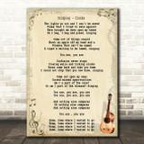 Coldplay Clocks Song Lyric Vintage Quote Print