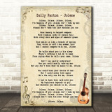 Dolly Parton Jolene Song Lyric Vintage Quote Print