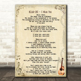 Blink-182 I Miss You Song Lyric Quote Print
