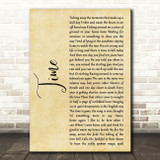 Pink Floyd Time Rustic Script Song Lyric Quote Music Print