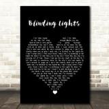 The Weeknd Blinding Lights Black Heart Song Lyric Wall Art Print