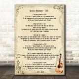 Arctic Monkeys 505 Song Lyric Quote Print