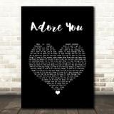 Harry Styles Adore You Black Heart Song Lyric Wall Art Print