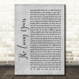 Mike + The Mechanics The Living Years Grey Rustic Script Song Lyric Wall Art Print