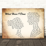 Dermot Kennedy What Have I Done Man Lady Couple Song Lyric Wall Art Print