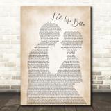 Lauv I Like Me Better Man Lady Bride Groom Wedding Song Lyric Wall Art Print