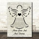Elton John Mona Lisas And Mad Hatters Music Script Angel Song Lyric Wall Art Print