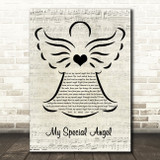 Bobby Vinton My Special Angel Music Script Angel Song Lyric Wall Art Print